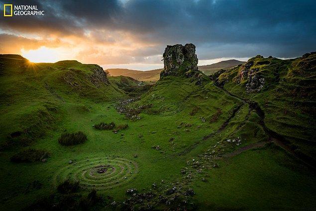 13. Sürreal bir Kelt sarmalı, İskoçya.