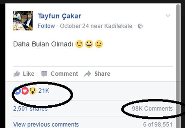 Tayfun Çakar isimli kullanıcının Facebook üzerinden paylaştığı bir matematik sorusu görseline 21 binden fazla reaksiyon geldi.