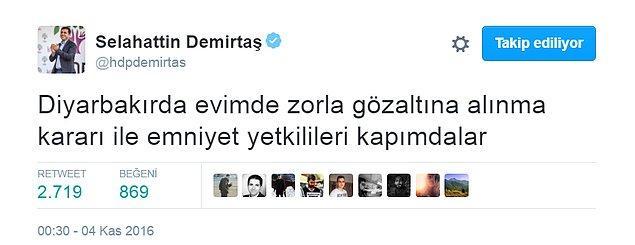 """Demirtaş: """"Emniyet yetkilileri kapımda"""""""
