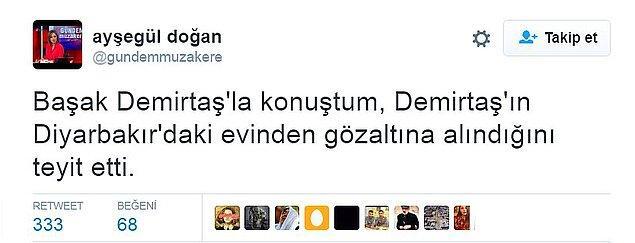Demirtaş da Yüksekdağ ile aynı gerekçeyle gözaltına alındı