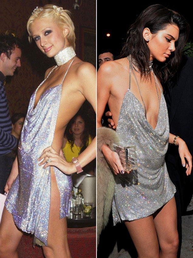 Tesadüf mü, yoksa bilerek düşülmüş bir pişti mi bilinmez, Kendall'ın elbisesi görenlere tek bir şeyi hatırlattı: Paris Hilton ve 21.yaş günü kutlaması!