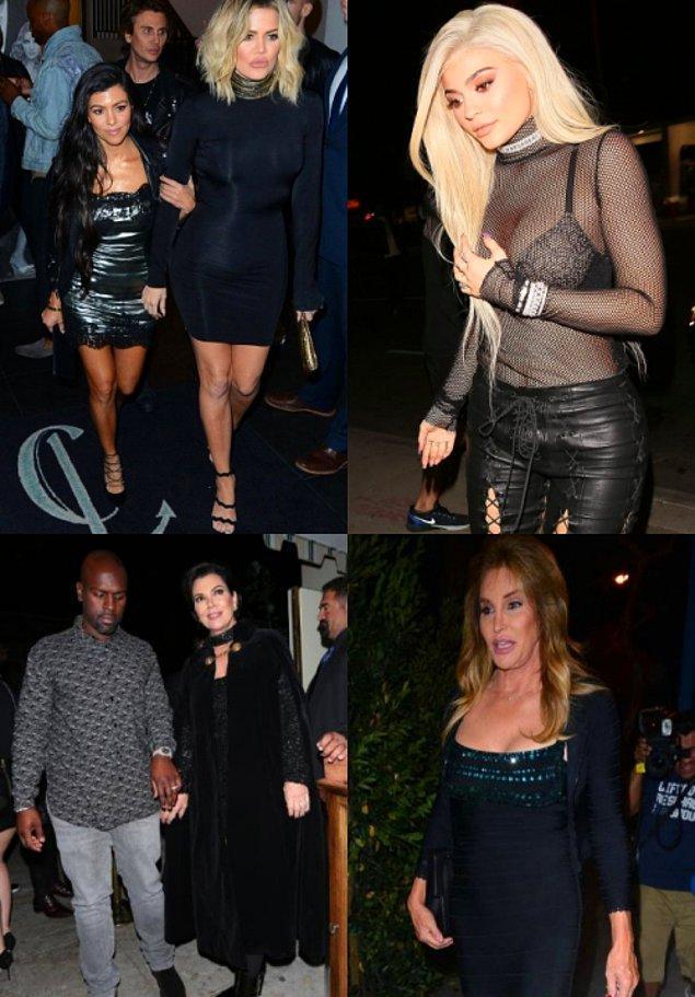 Rob Kardashian hariç tüm aile üyeleri yanındaydı.