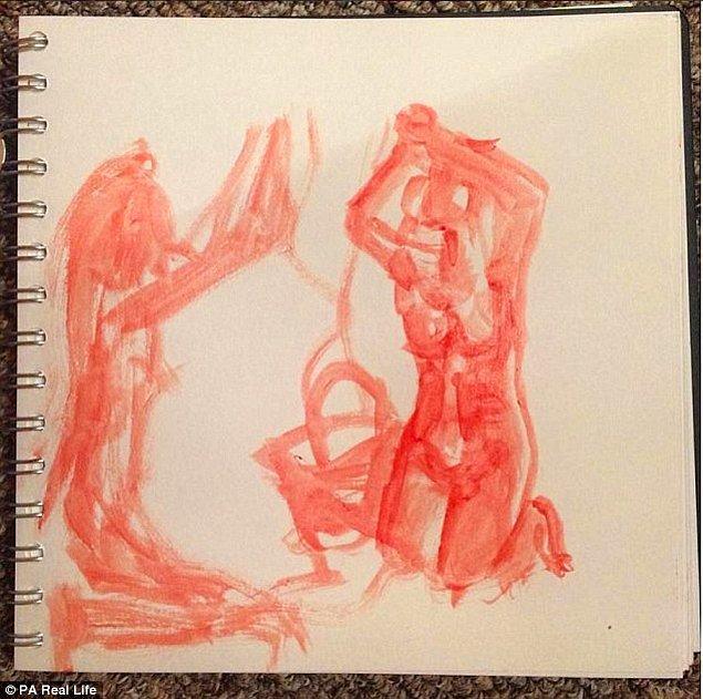 Çizimler yavaş ve yaratıcı bir süreç gerektiriyor çünkü ayda bir regl kanını kullanabiliyor Jess.