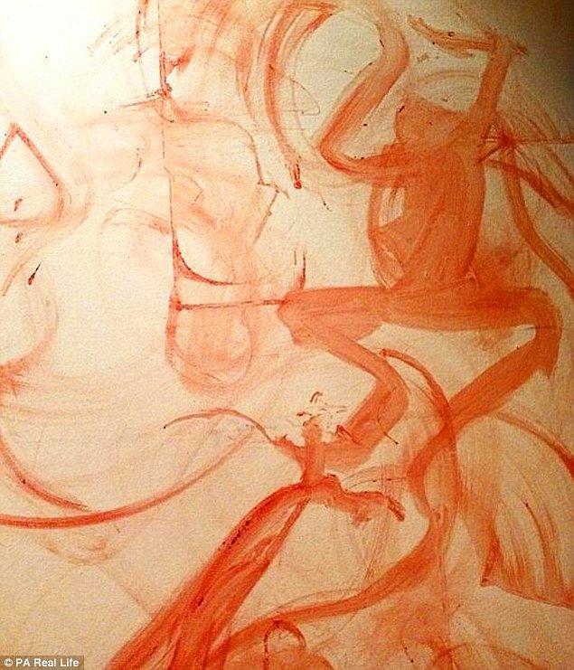 Sanatçı antik mağara çizimlerinden ilham alıyor ve resimler güçlü kadın karakterler barındırıyor.