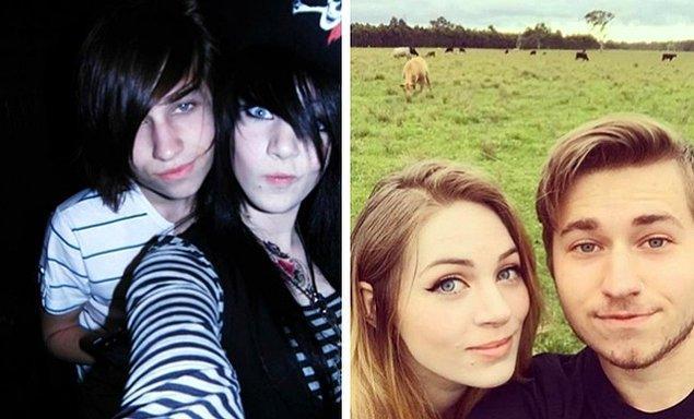 İlk fotoğraf, kız arkadaşımla beraberliğimizin başladığı ilk günlerden. Şimdi sanırım o zamandan çok daha iyi görünüyoruz.
