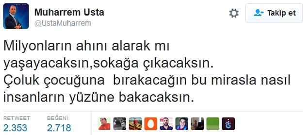 3. Trabzonspor başkanı Muharrem Usta'da hakeme tepki gösterdi;