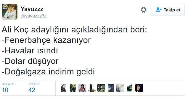 9. Fenerbahçe'nin galibiyetinina ardından;