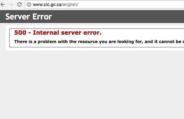 BBC, Kanada'nın göçmenlik sitesi erişilemez hale geldiğini aktardı...