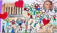 Atatürk Ölmedi Kalbimizde Yaşıyor! Atatürk Özlemini Resimleriyle Anlatan 19 Çocuk