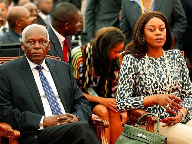 1. Angola'nın 37 yıl cumhurbaşkanlığını yapmış Jose dos Santos'un manken eşi Ana Paula dos Santos