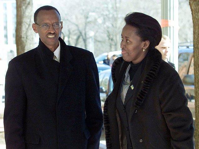 9. Ruanda'yı savaş ve soykırımdan kurtardığı iddia edilen Paul Kagame'nin eşi Jeannette Kagame