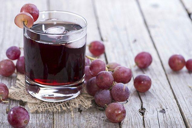 8. Üzüm suyu ile bol bol enerji alın.