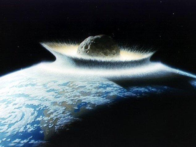 Elbette tüm gezegenin yok olması için daha büyük bir asteroid yağmuru gerekiyor; ancak gezegenimizin geçmişi düşünüldüğünde bu olmayacak bir şey değil...