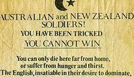 Çanakkale Savaşı'nda Uçaklarımızın Atıp Anzakların Direncini Kırdığı Propaganda Bildirisi