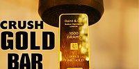 40 Bin Dolarlık Altın Külçesi Hidrolik Pres Makinesinin Altında Kalırsa Ne Olur?