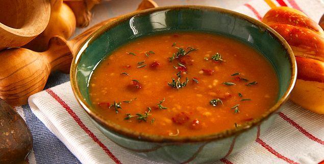 Kışın vazgeçilmezi tarhana çorbasına da kattık