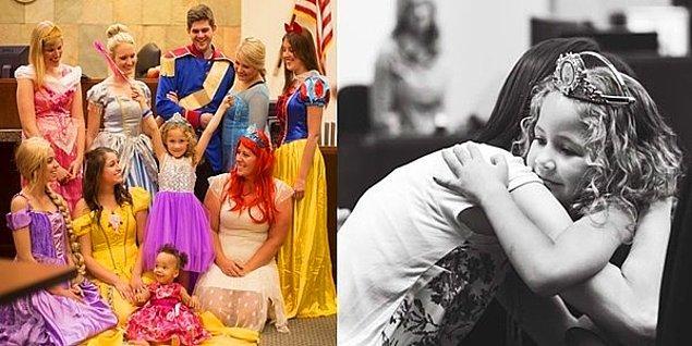 9. Bazı Masallar Gerçek Olur: Yeni Ailesine Prensesler Eşliğinde Kavuşan Minik Kız Danielle!