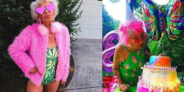 22. Bildiğimiz Babaannelere Benzemeyen, Instagram Fenomeni Baddie Winkle 88. Yaşını Kutluyor!