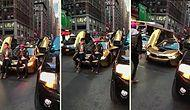 Trafiğin Ortasında Fotoğraf Çektiren Gençlere Ayar Veren Adam Gibi Adam