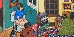 Etrafta Kimsecikler Olmadığında Kadınların Neler Yaptığını Gösteren 15 Yaratıcı İllüstrasyon