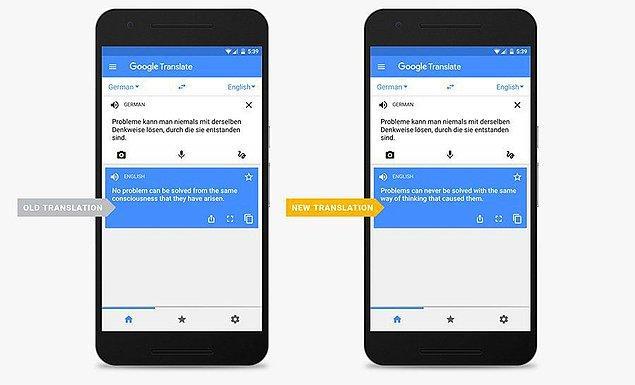 12. Google Translate'in saçma çevirilere elveda diyecek olması da bol bol okundu.