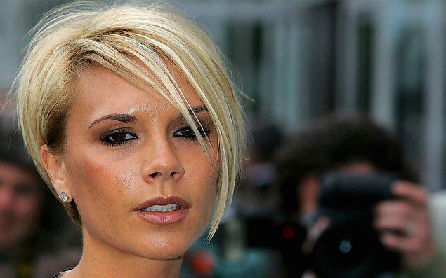 12. Victoria Beckham bu saç modeli ile adeta moda yarattı. Fakat keşke yaratmasaydı...