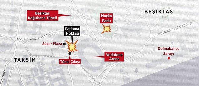 İki bombalı saldırı, Süper Toto Süper Lig'de Beşiktaş ile Bursaspor arasında oynanan maçın bitiminin hemen ardından gerçekleştirildi.