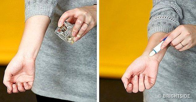 10. Parfümünüzün daha uzun süre dayanmasını sağlar.