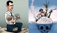 Halep'te Yaşanan Acıya Neredeyse Hiç Sözcük Kullanmadan Tepki Gösterenlerden 18 Karikatür
