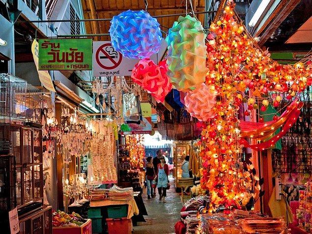 3. Süslü pazar arayanlara: Chatuchak Market, Bangkok