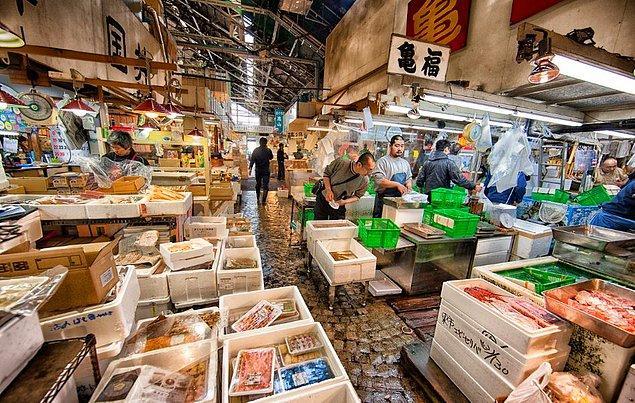 7. Balığa doymak isteyenlere: Tsukiji Fish Market, Tokyo