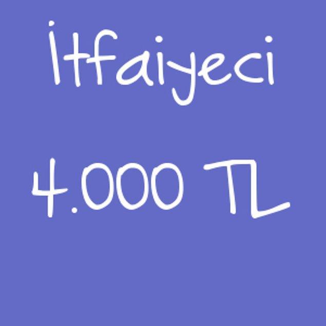 İtfaiyeci - 4.000TL!