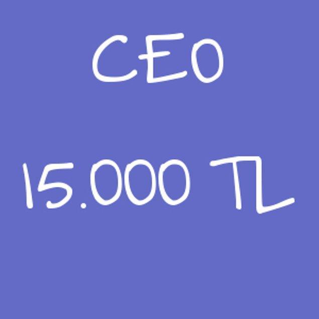 CEO - 15.000 TL!