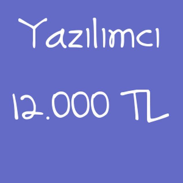 Yazılımcı 12.000 TL!
