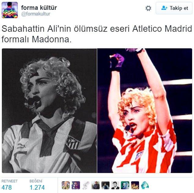 11. Okudum, Madonnayla, Maradonayla aşkını anlatıyor. 😂