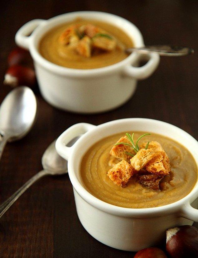 2. Sıcacık Kestane Çorbası Tarifi