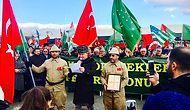 İstanbul'da yaşayan Çerkesler'den teröre tepki yürüyüşü ve basın açıklaması... 10 ARALIK 2016