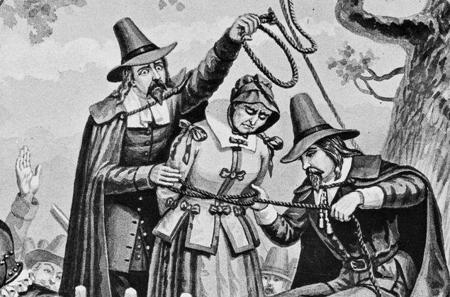 Amerika'da bulunan Salem isimli kasabada, Şubat 1692 - Mayıs 1693 arasında 19 insan cadı oldukları şüphesiyle idam edildi.