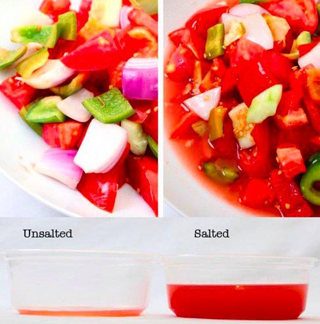 5. Salataların daha uzun ömürlü olması için yapmanız gereken çok basit...