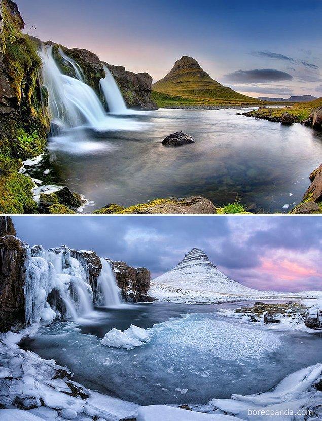 13. Kirkjufell Havuzu, İzlanda