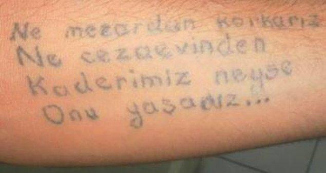 9. Bu dövme de tüm kader kurbanlarına gitsin.