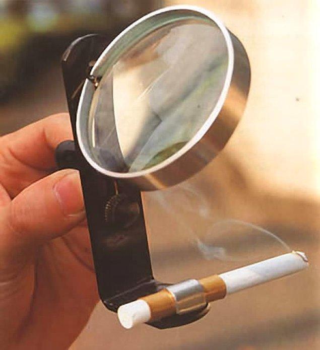 4. Güneş enerjisiyle çalışan sigara yakıcı.