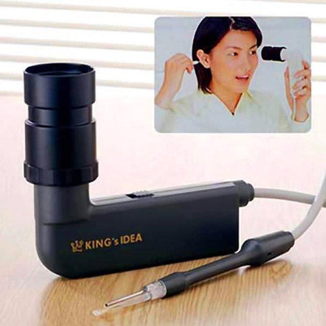 11. Video kamerayla kulak içi temizleyici.