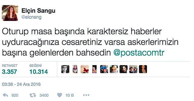 Sangu, hakkında yapılan bu habere Twitter hesabından oldukça sert bir şekilde yanıt verdi.