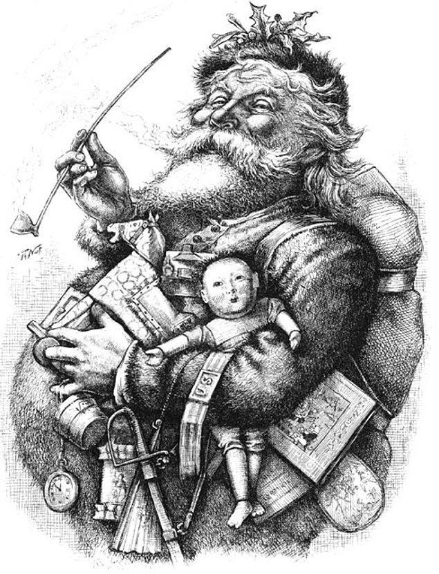 4. Günümüzdeki Noel Baba imajının temeli, karikatürist Thomas Nast'ın 3 Ocak 1863 tarihli Harper's Weekly dergisinde yayınlanan çizimleri ile atıldı.