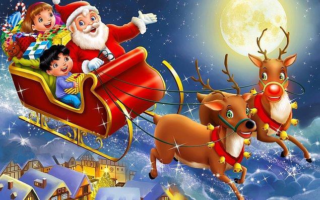 7. Noel Baba'nın geyiklerinin sayısı bilinenin aksine 9 değil, 10'dur.
