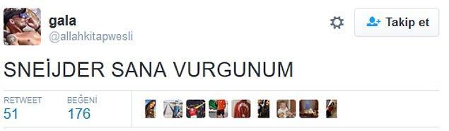 8. Sneijder'in mükemmel performansının ardından;