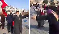 Bunu da Gördük: 'Şehitlere Saygı Yürüyüşü'nde Göbek Atan Vatandaşlar
