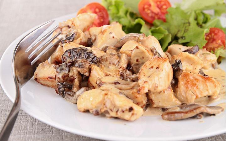 Куриное мясо грибами рецепт фото
