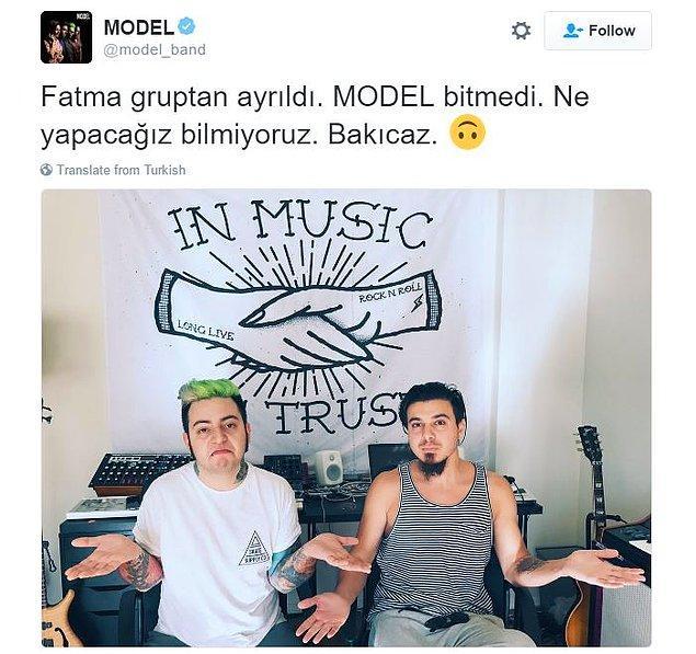 Fatma Turgut'un bu açıklamasından sonra Model'in resmi hesabından hızlıca yalanlama ve yanıt geldi.